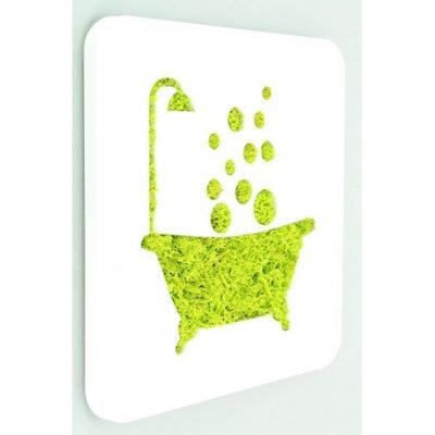 tableau lichen pvc baignoire