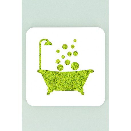 Tableau en lichen - baignoire