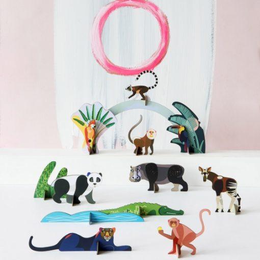 animaux a monter sois même en carton