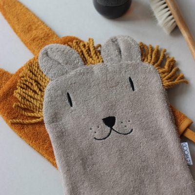 gants de toilettes animaux bebe