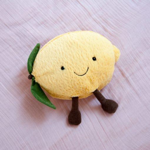 peluche en forme de citron