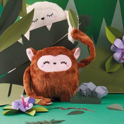 petit singe en forme de boule